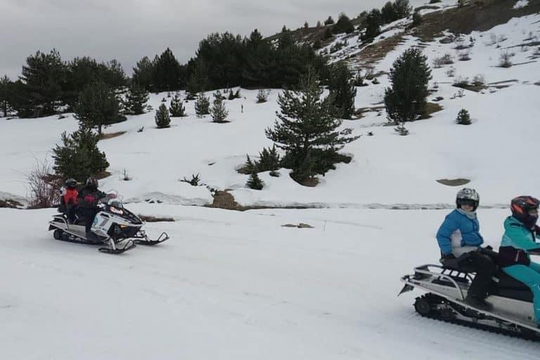 motos-de-nieve-accion-pirineos-paisaje-blanco-con-arboles-verdes